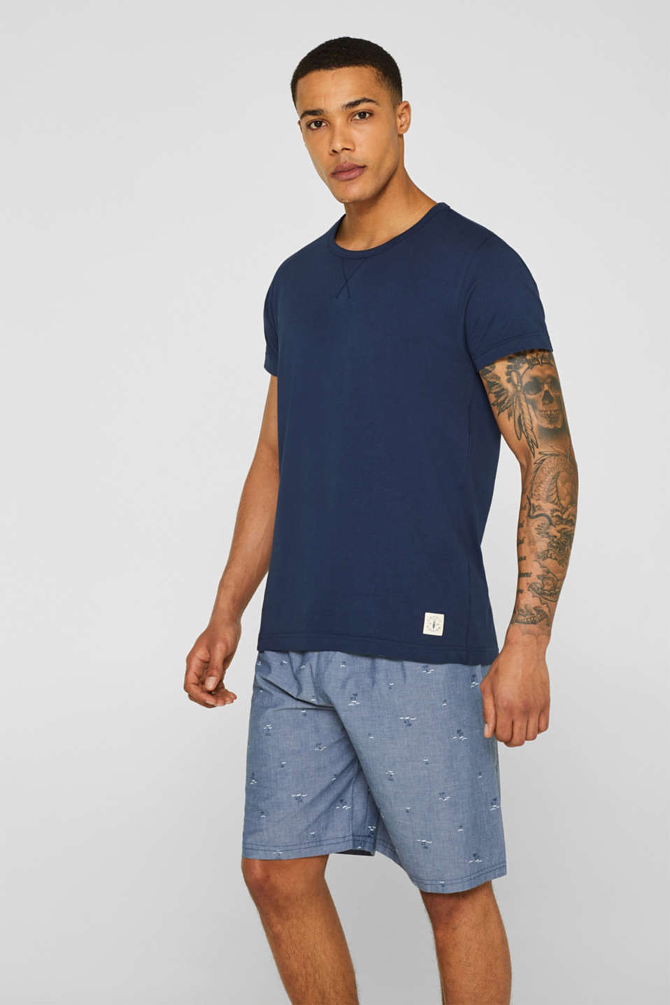 Esprit - Pyjamas with printed shorts, 100% cotton