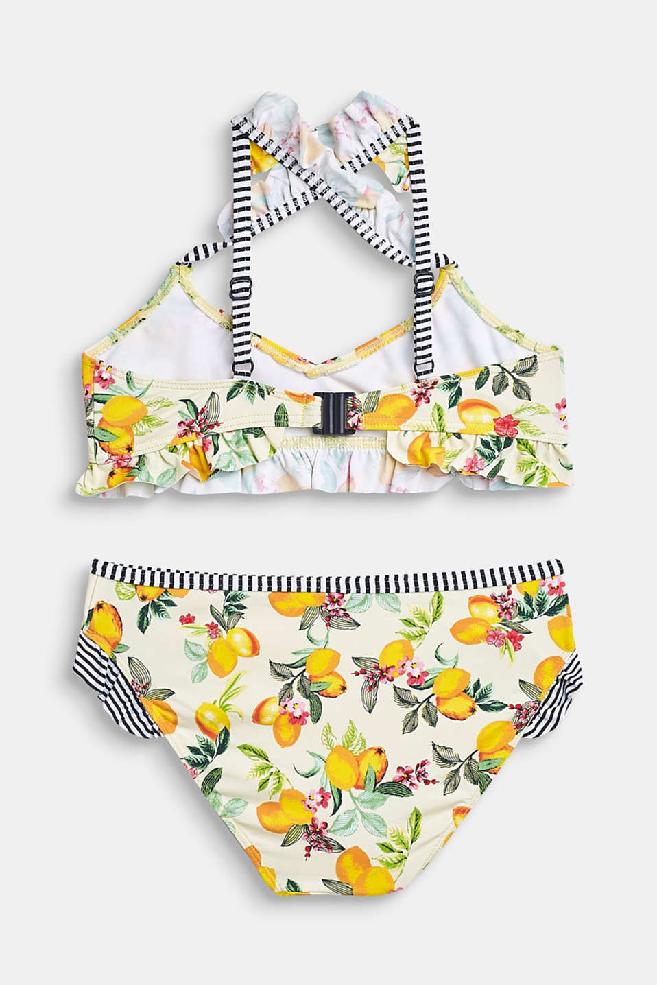 Bikini set with a mix of patterns and frills, BRIGHT YELLOW, detail image number 1