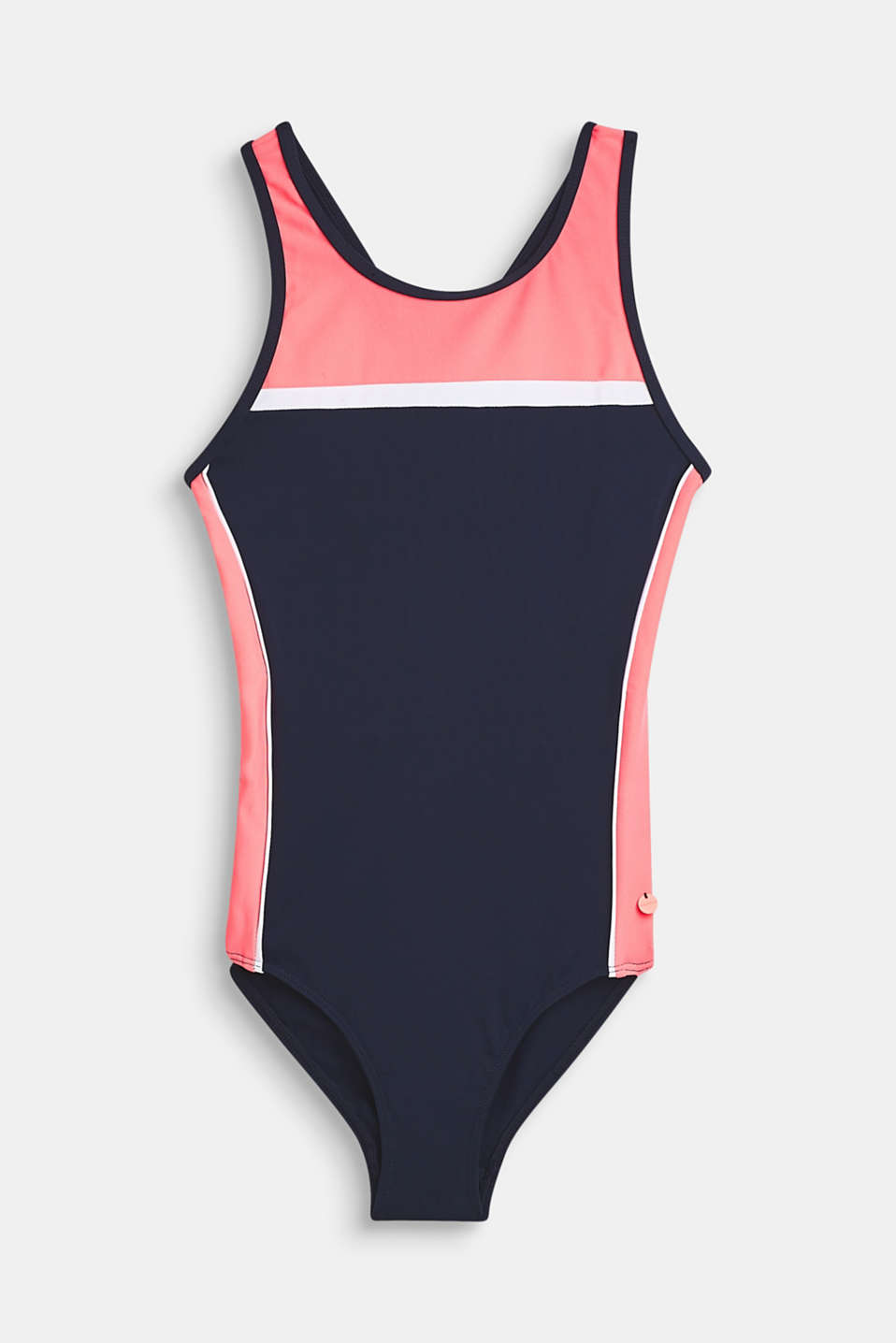 Esprit - Sportily striped swimsuit