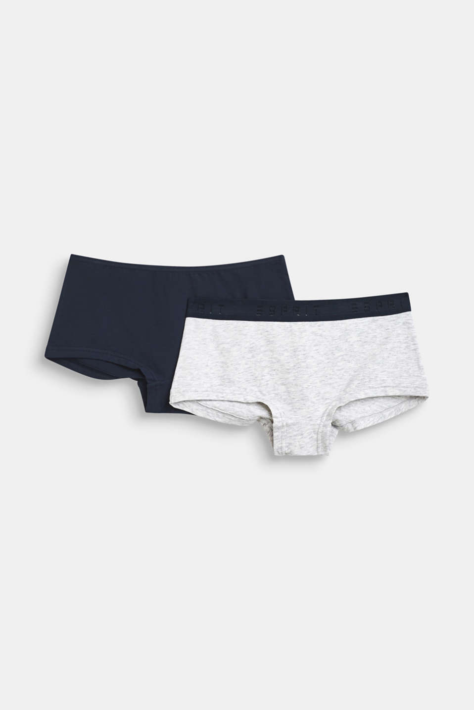 Esprit - Lot de 2 : shorty taille basse en jersey stretch