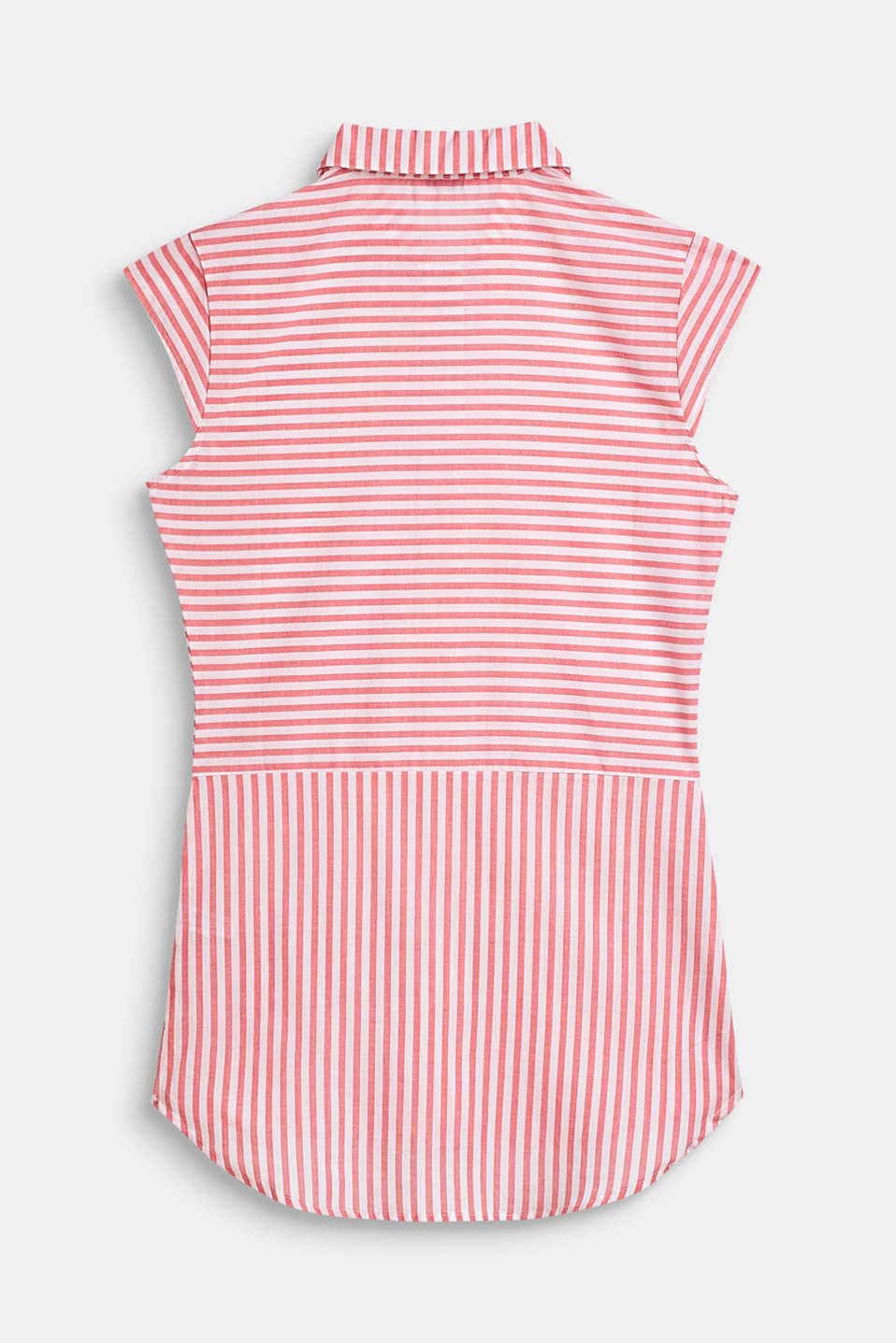 Striped, woven nightshirt made of 100% cotton, CORAL, detail image number 1
