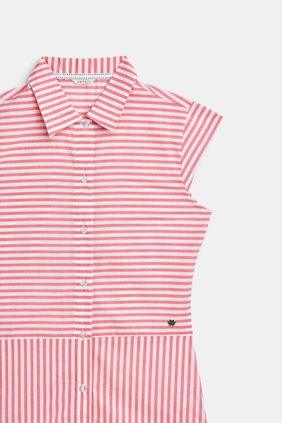 Striped, woven nightshirt made of 100% cotton, CORAL, detail image number 2
