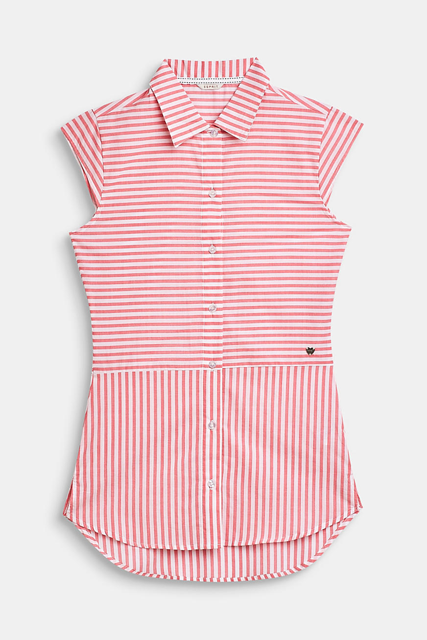Striped, woven nightshirt made of 100% cotton