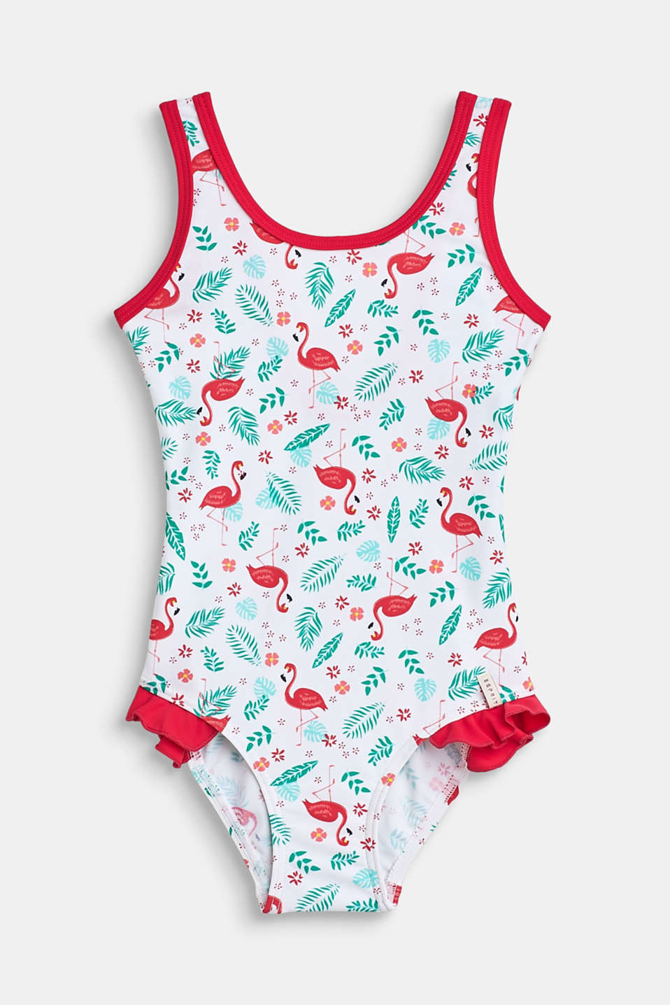 Esprit - Swimsuit with flamingo print
