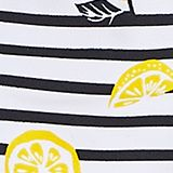 High-neck bikini with stripes and lemons, NAVY, swatch