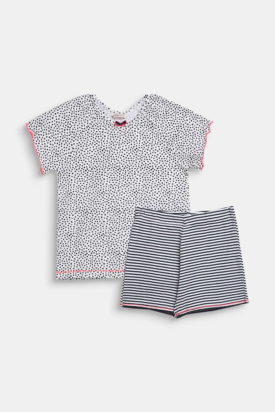 Esprit - Short jersey pyjamas with a mixed pattern