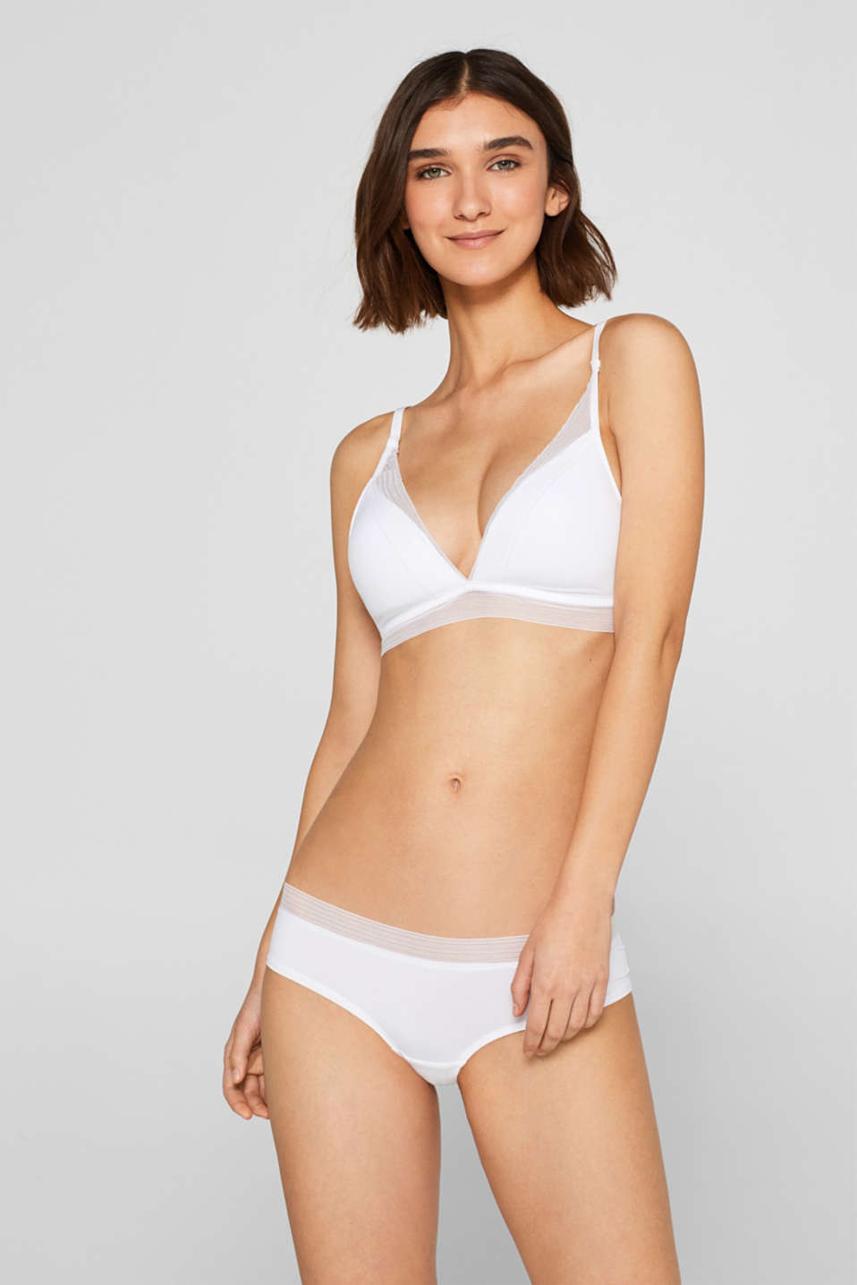 Esprit - NYE padded non-wired bra with a mesh trim