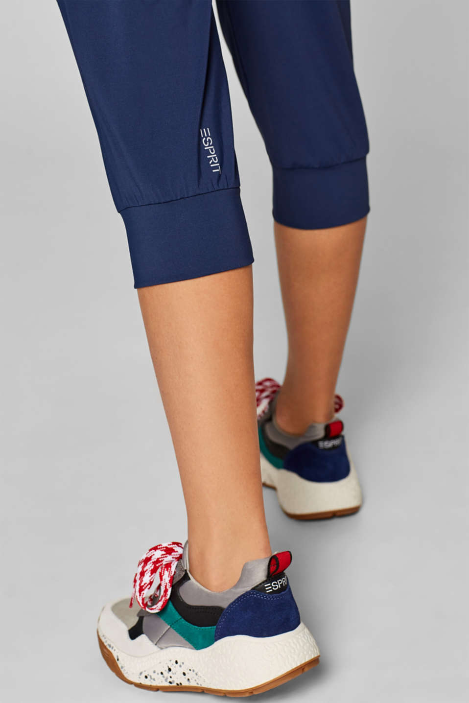Loose active capris, E-DRY, NAVY, detail image number 4
