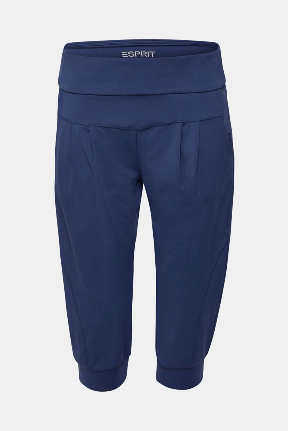 Loose active capris, E-DRY, NAVY, detail image number 6