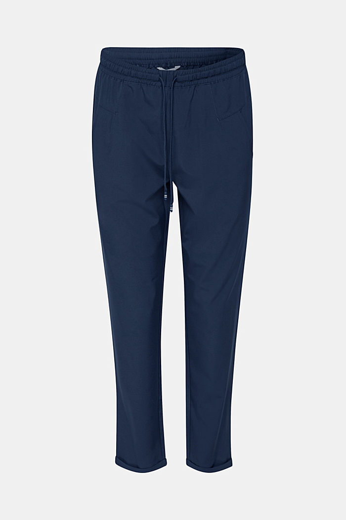 Active Pants mit Gummizugbund, E-DRY, NAVY, detail image number 0