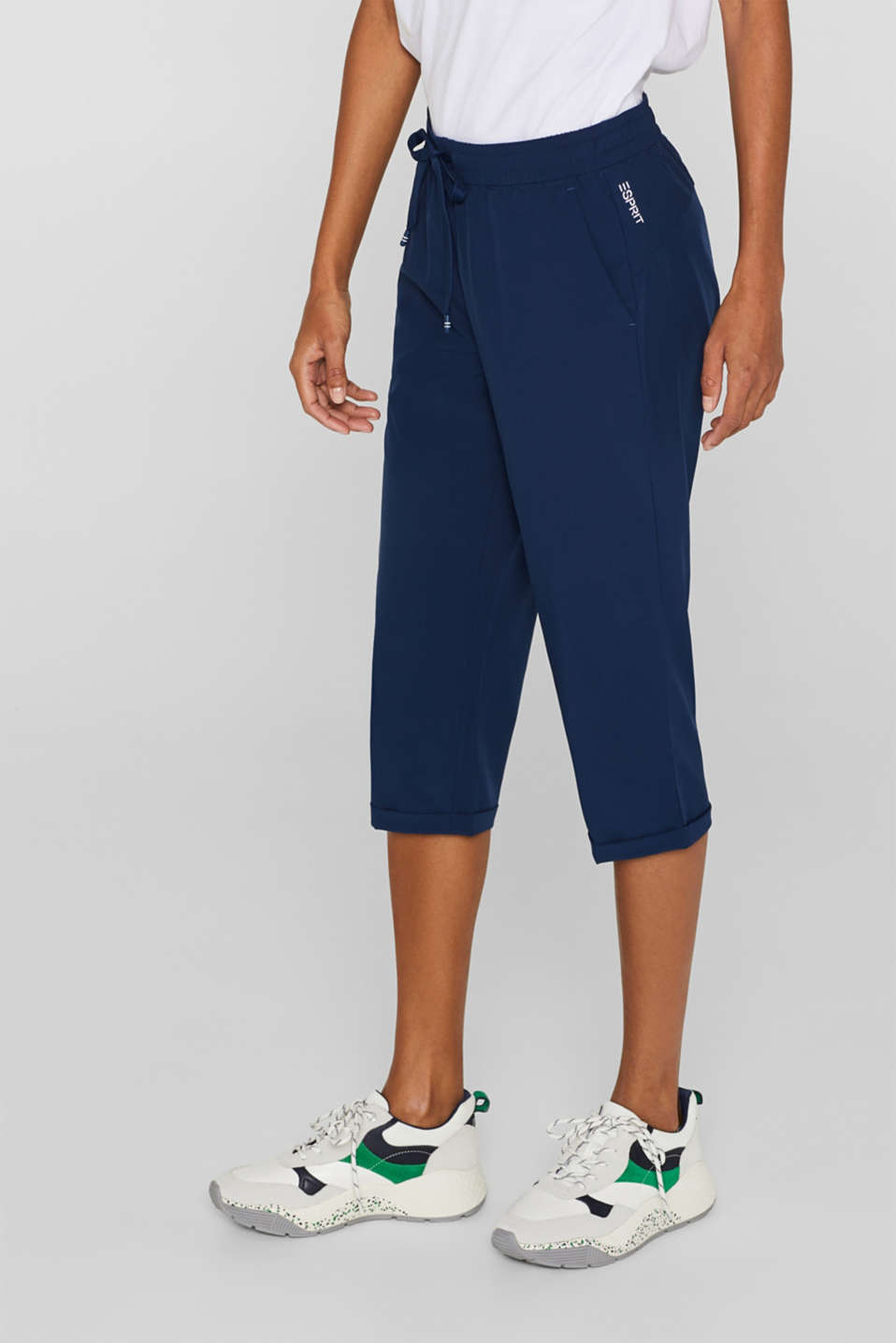 Esprit - Active capris with an elasticated waistband, E-DRY