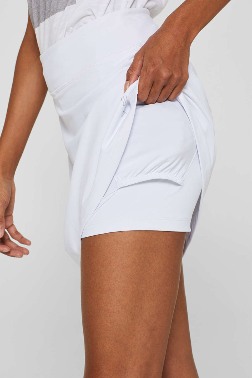 Shorts knitted, WHITE, detail image number 2