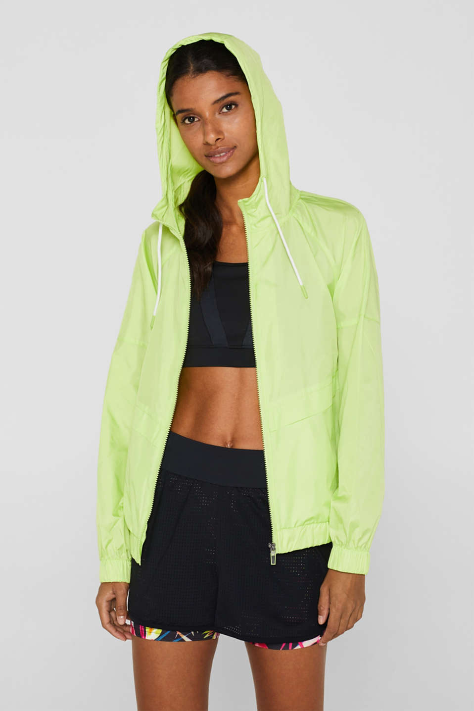 Esprit - Lightweight nylon jacket with a hood