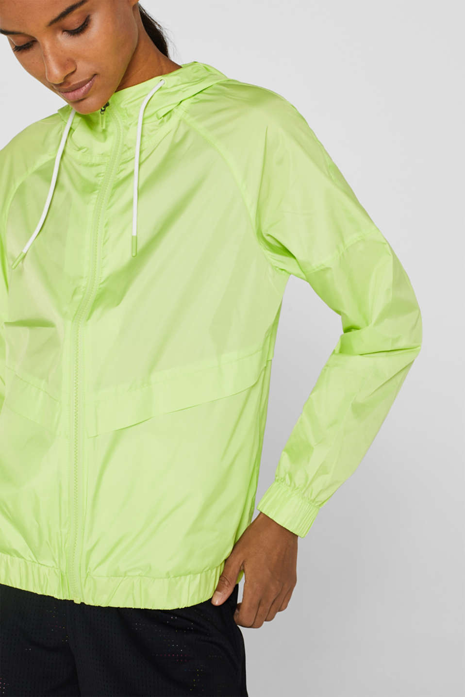 Jackets outdoor woven, LIME YELLOW, detail image number 2