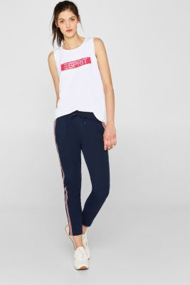 Stretch top with a statement print, E-DRY, WHITE, detail