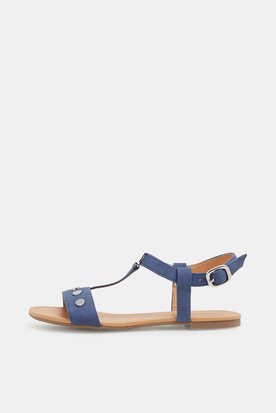 Esprit - Sandals with studs, in faux leather