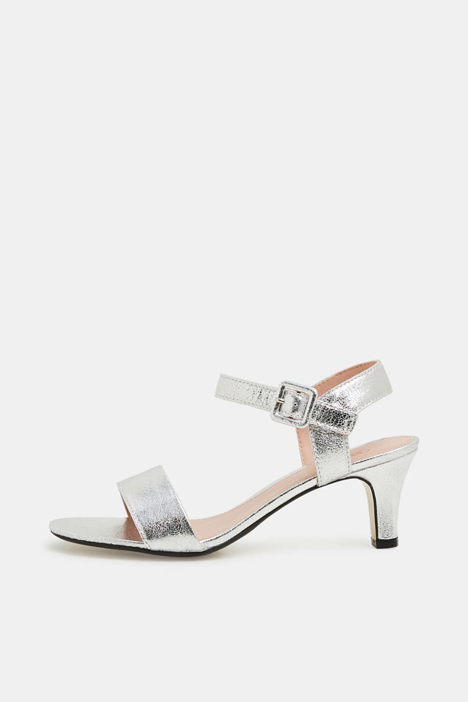 Esprit - Sandals in crushed faux leather
