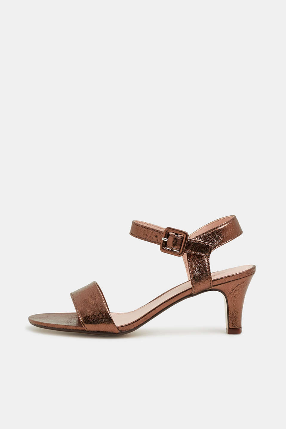 Esprit - Sandalen in gecrashte leerlook