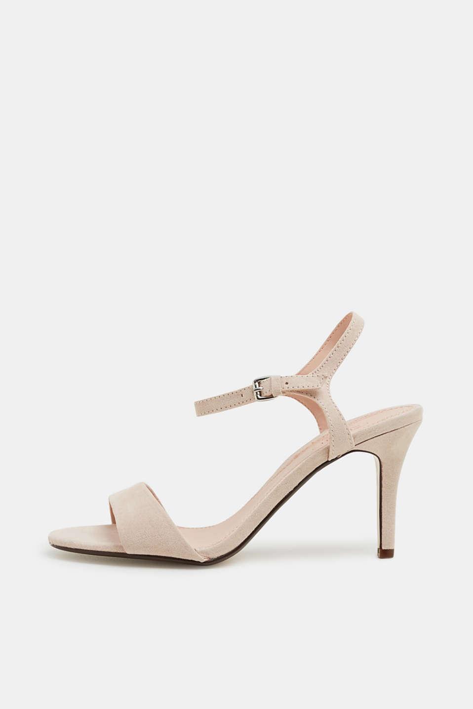 Faux suede sandals, SKIN BEIGE 2, detail image number 0