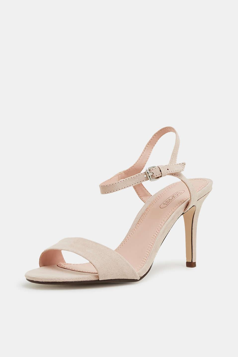 Faux suede sandals, SKIN BEIGE 2, detail image number 2