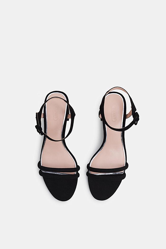 Sandalette in Velours-Optik, BLACK, detail image number 1