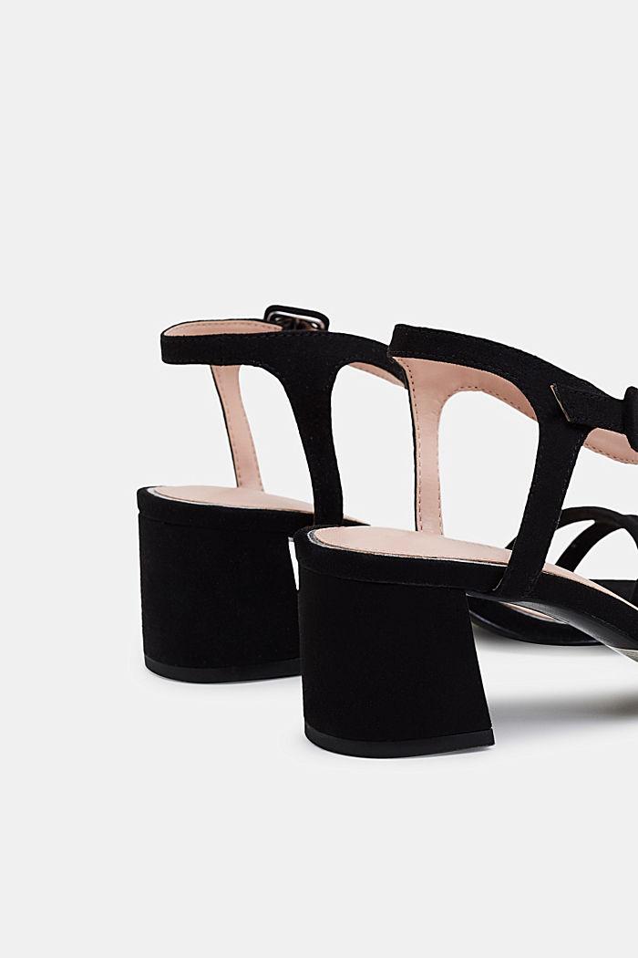 Sandalette in Velours-Optik, BLACK, detail image number 4