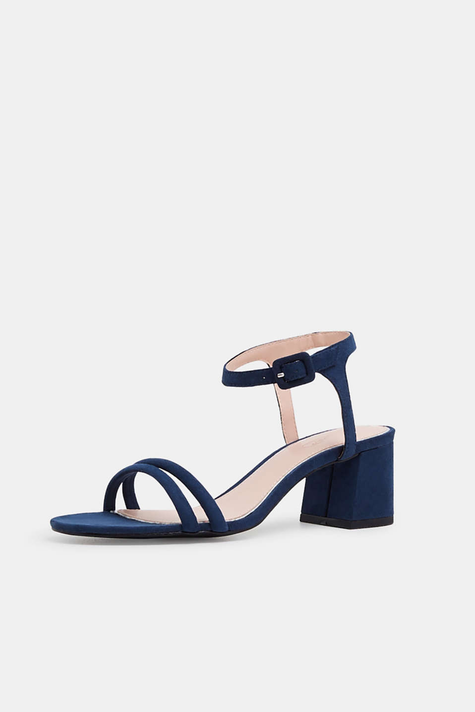 Faux suede sandals, NAVY, detail image number 2