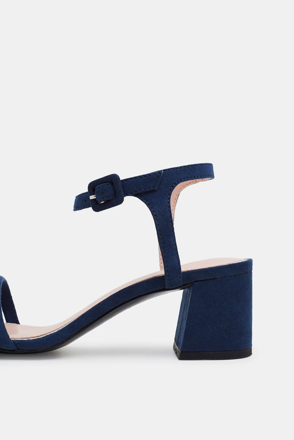 Faux suede sandals, NAVY, detail image number 4