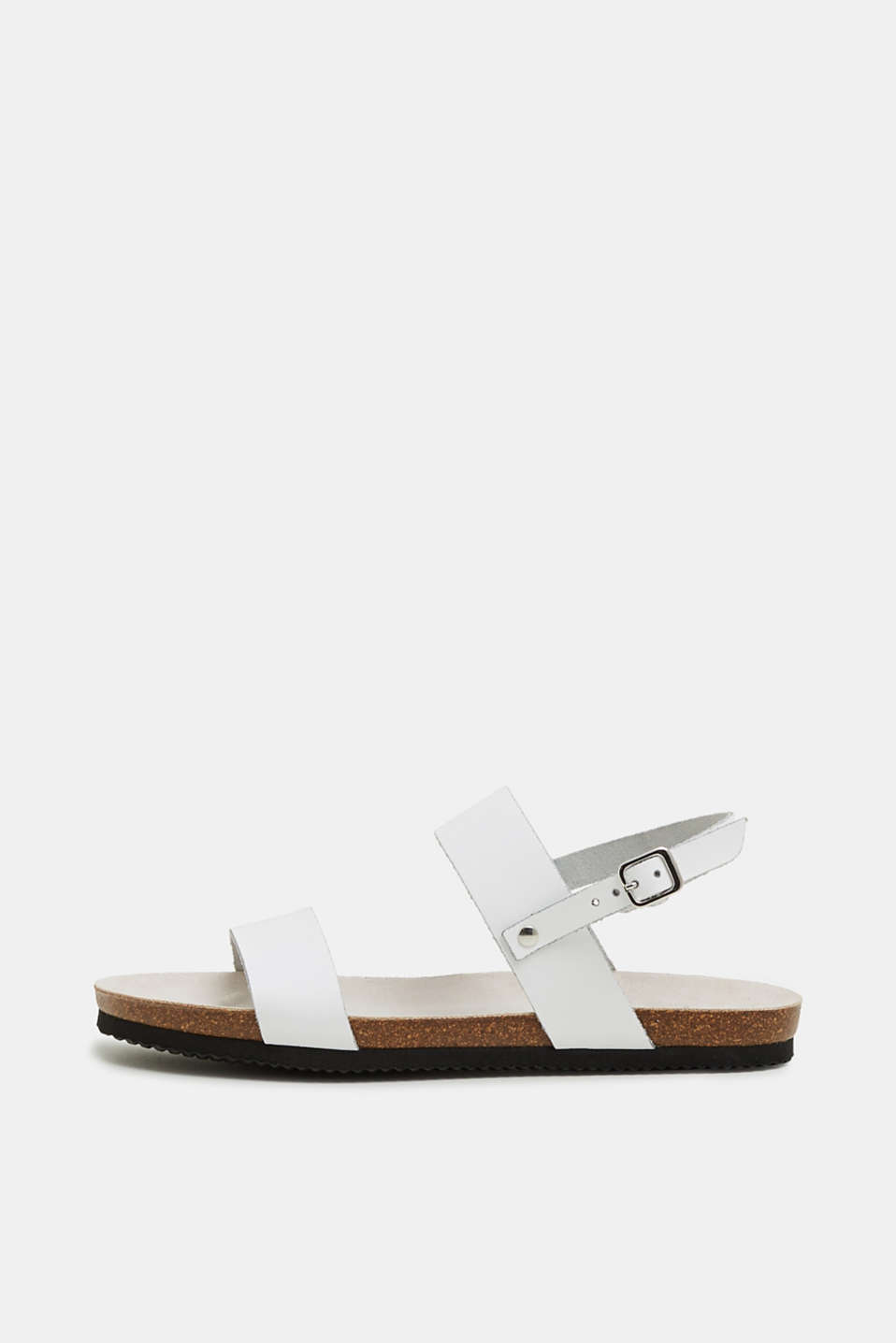 Esprit - Sandals with footbed, made of leather