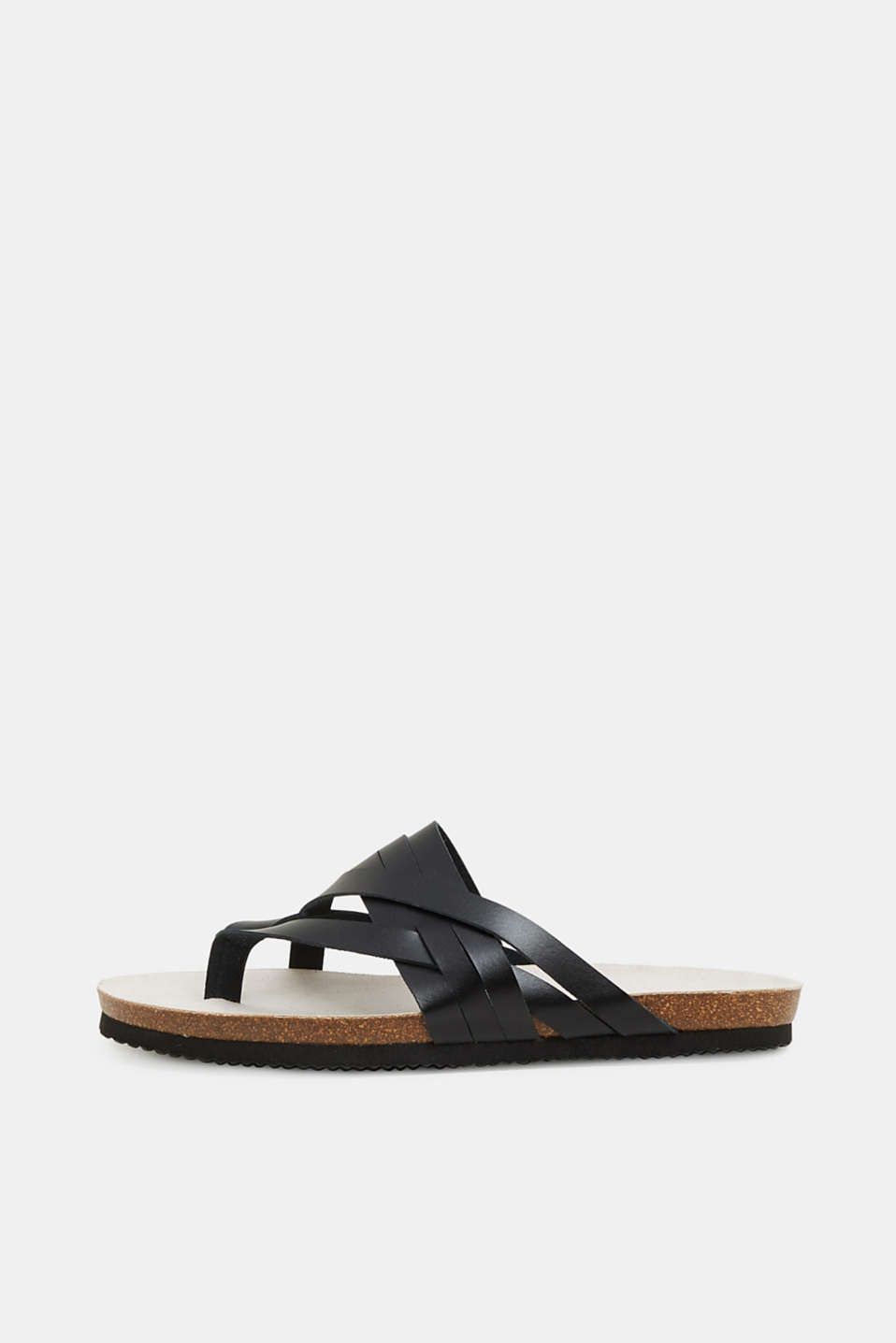 Esprit - Leather toe-post slip-ons
