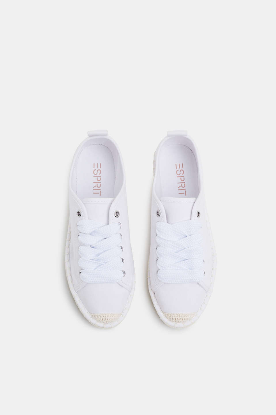 Canvas espadrille trainers, WHITE, detail image number 1