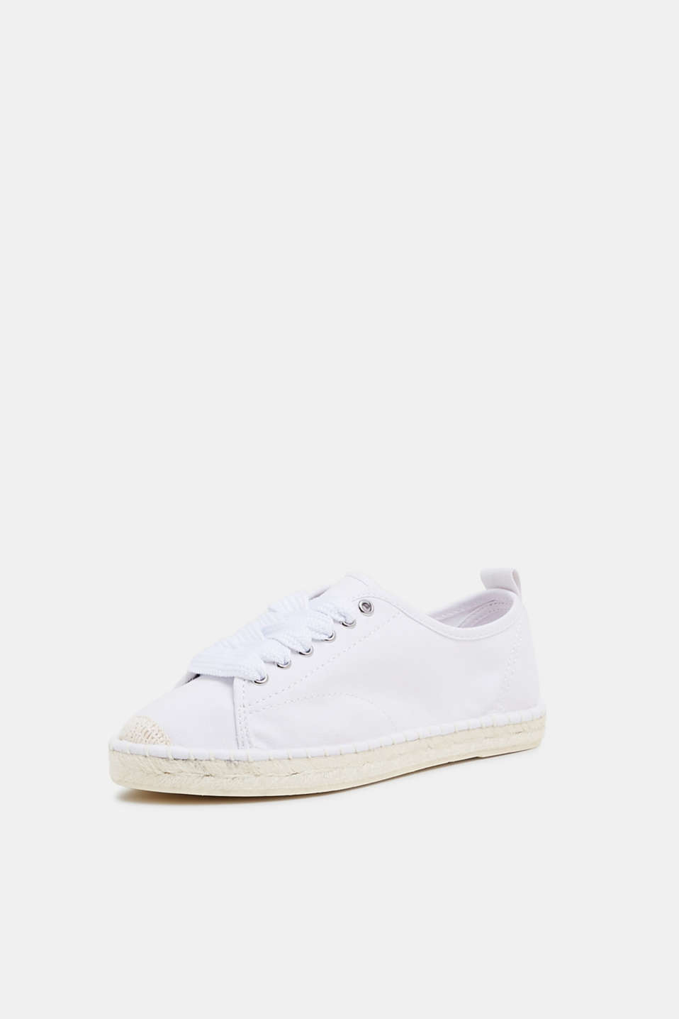 Canvas espadrille trainers, WHITE, detail image number 2