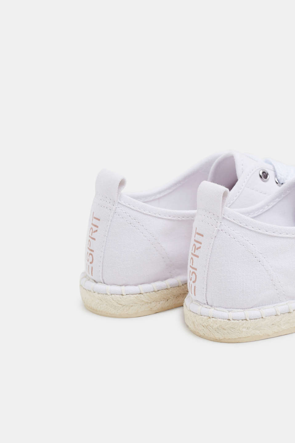 Canvas espadrille trainers, WHITE, detail image number 5