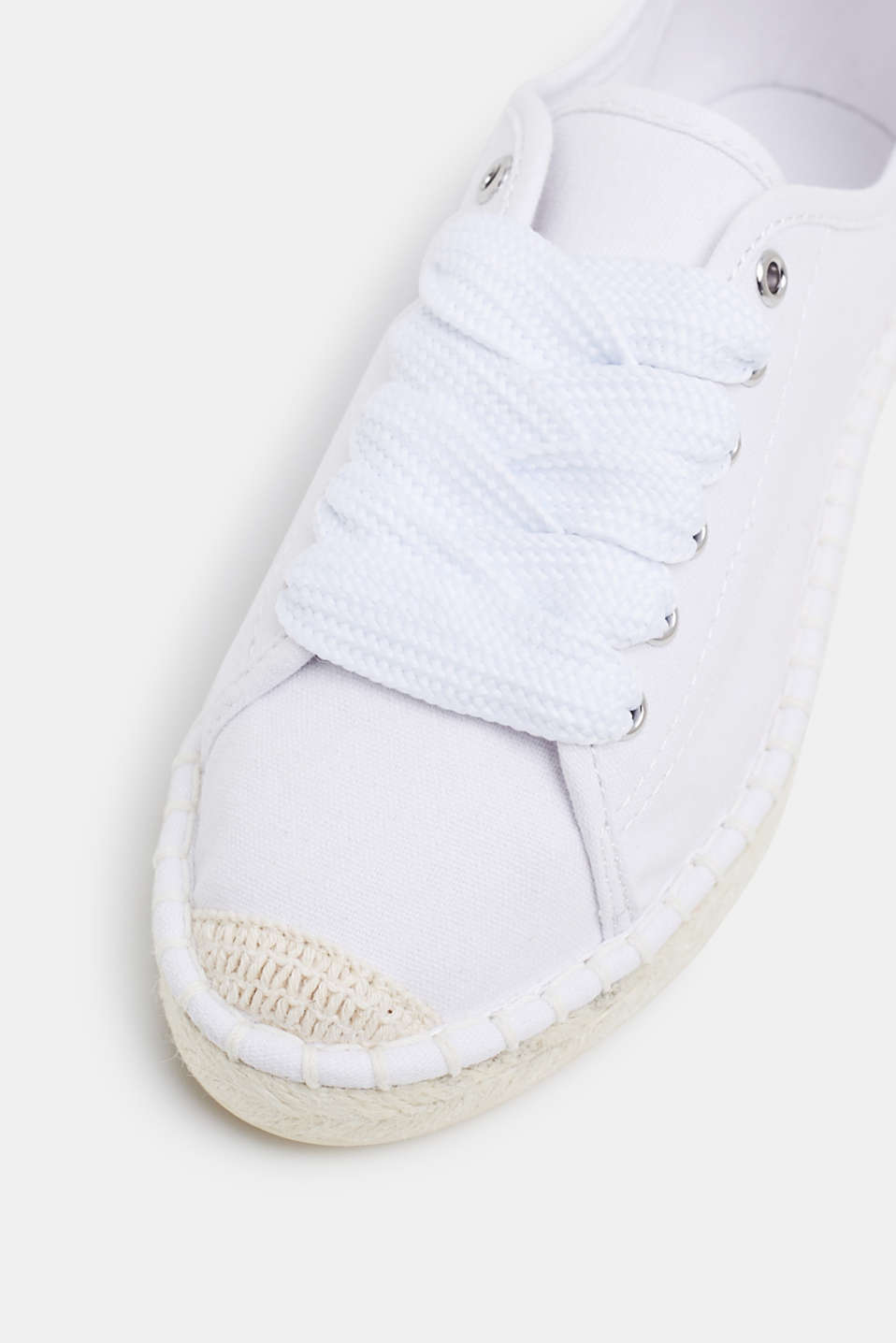 Canvas espadrille trainers, WHITE, detail image number 4