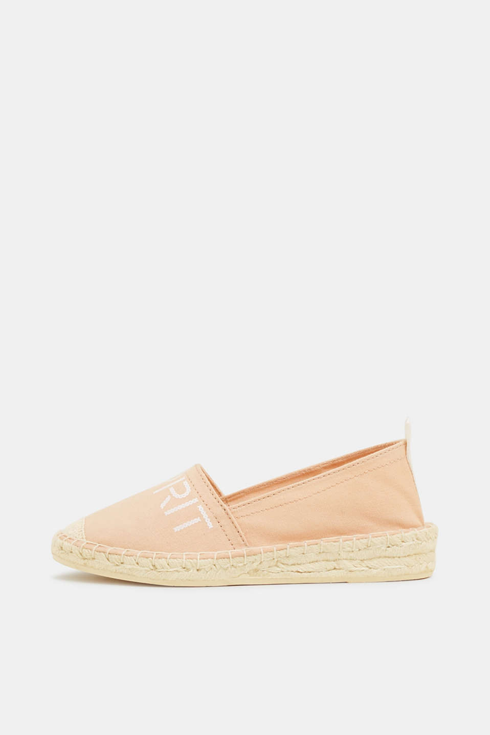 Esprit - Espadrilles with a logo print and bast sole
