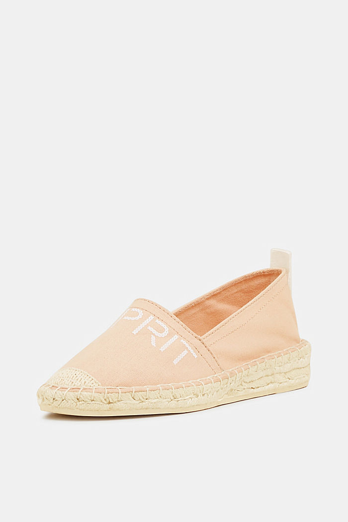 Espadrilles with a logo print and bast sole, DARK OLD PINK, detail image number 2