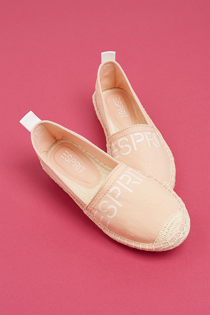 Espadrilles with a logo print and bast sole, DARK OLD PINK, detail image number 5
