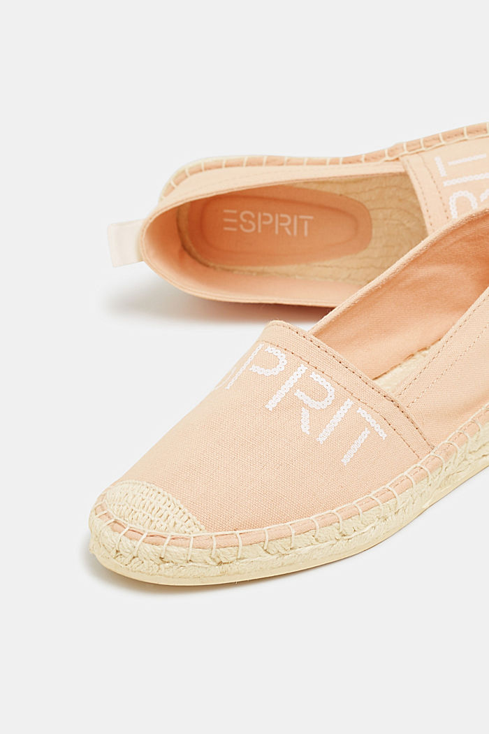 Espadrilles with a logo print and bast sole, DARK OLD PINK, detail image number 3