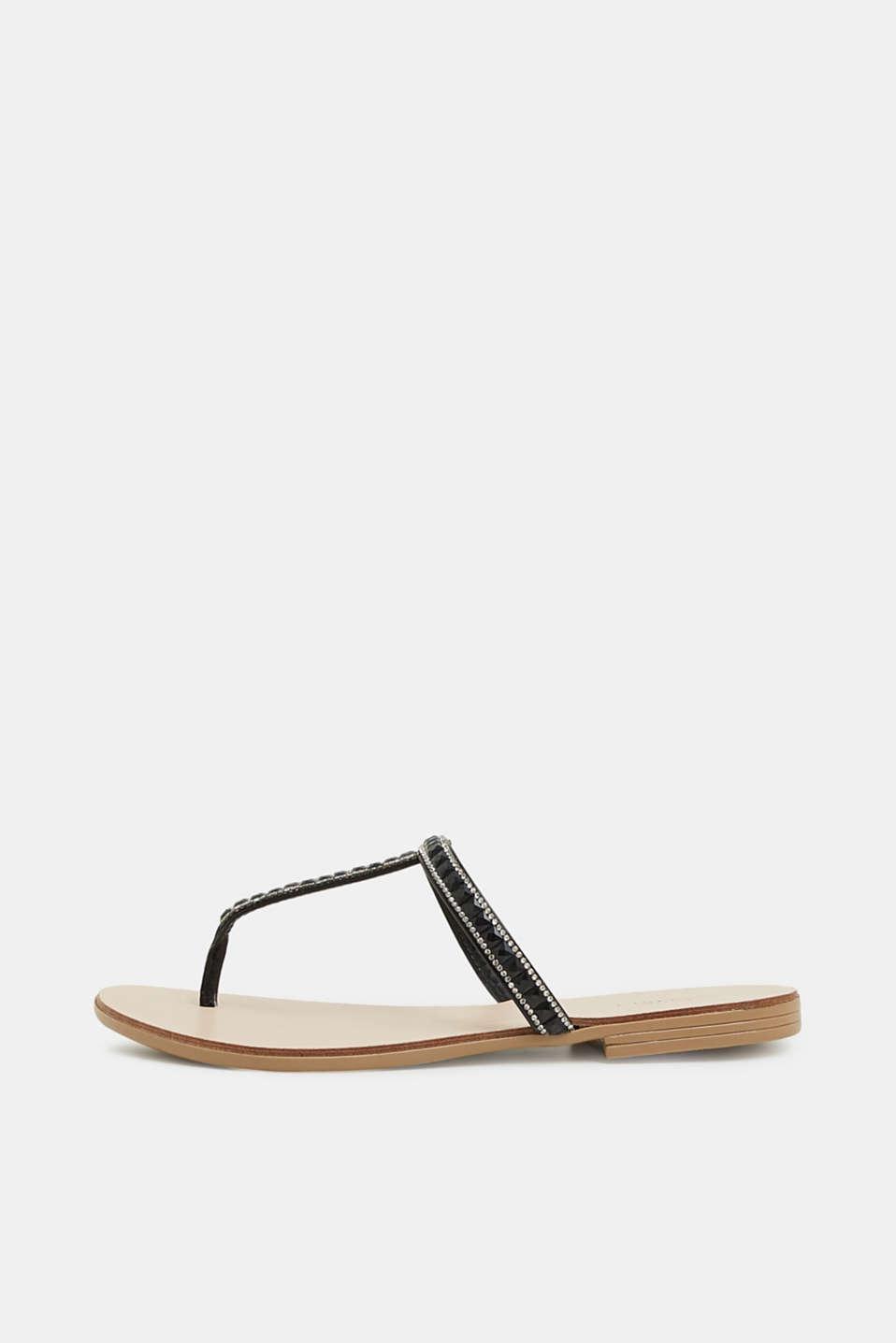 Esprit - Thong sandals with facet-cut stones