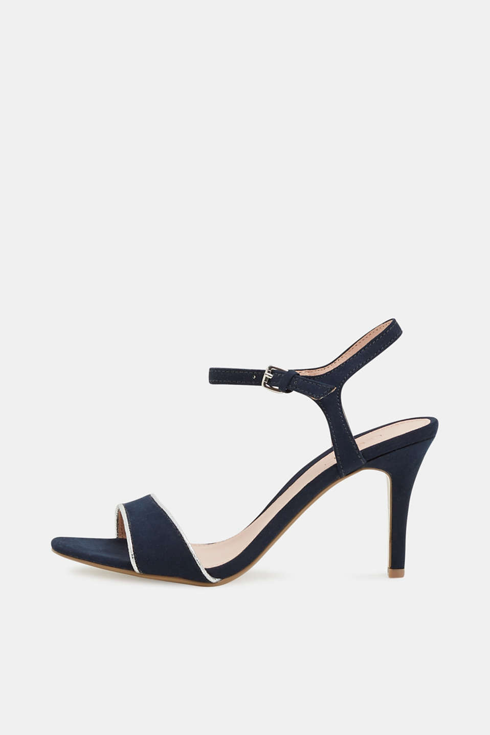 Suede sandals with metallic accents, NAVY 5, detail image number 0