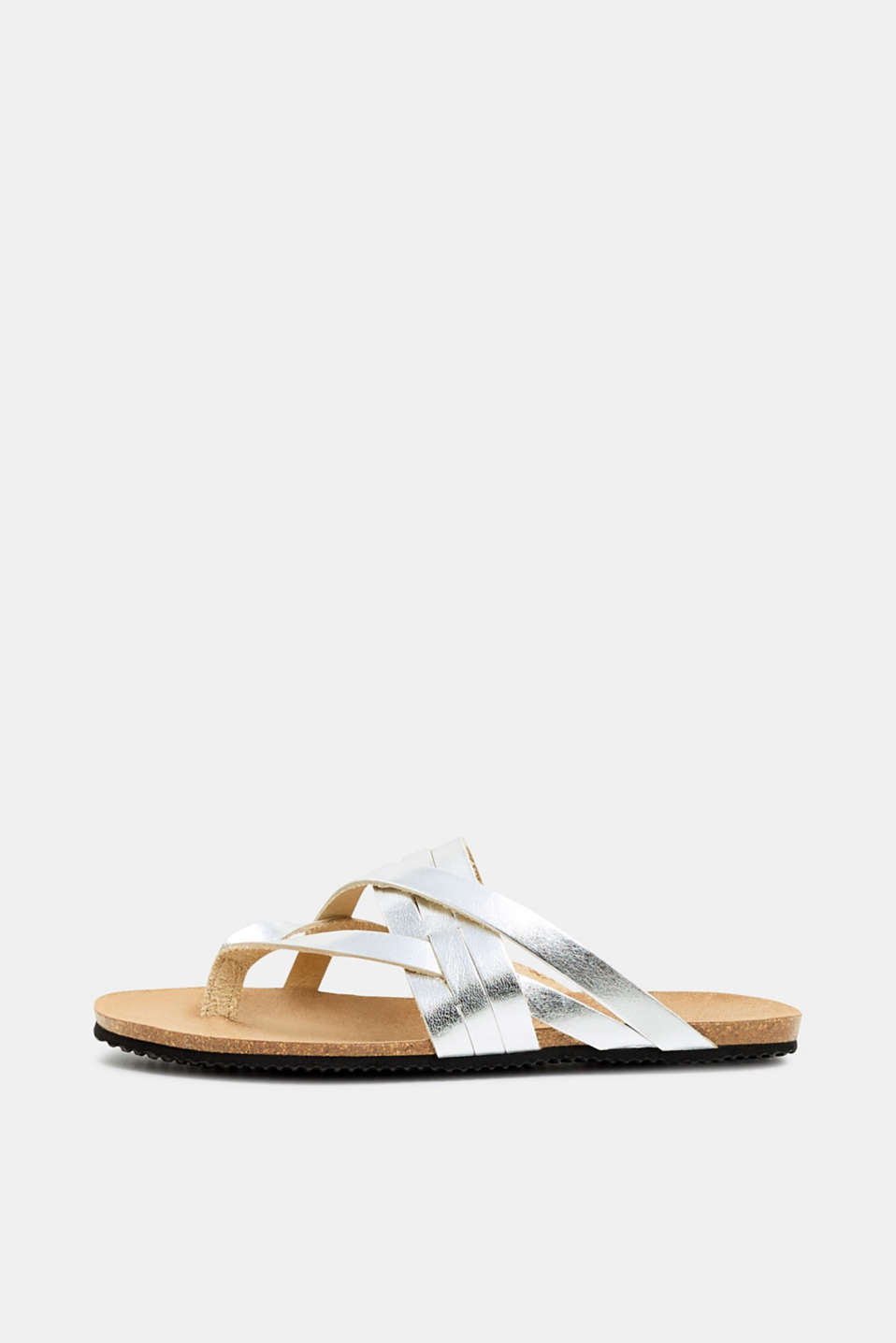 Esprit - Toe-post with crossed-over strap, 100% leather