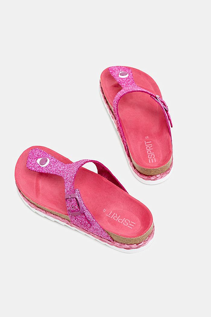Teenslippers met glitters, PINK, detail image number 1