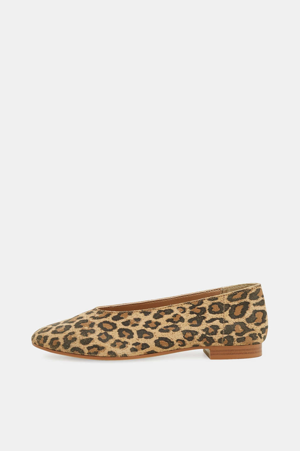 Esprit - Leopard ballerinas in leather