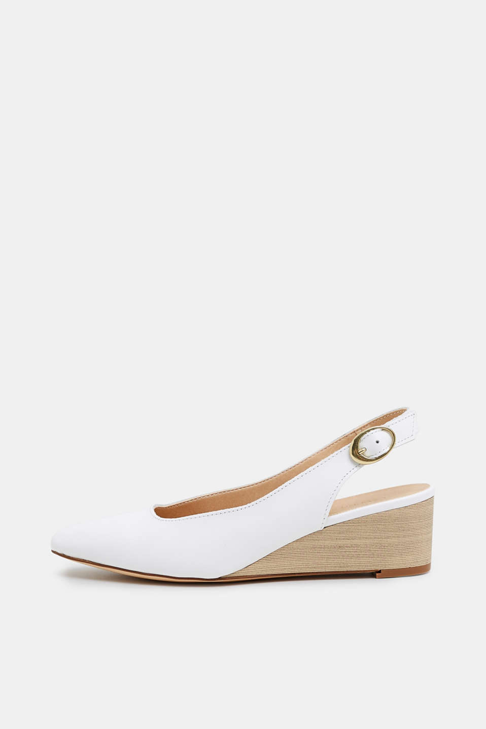 Esprit - Sling back court shoes with wedge heel, in leather