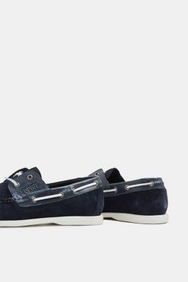 low priced 55c6f 77656 Esprit - Bootsschuhe aus Veloursleder im Online Shop kaufen
