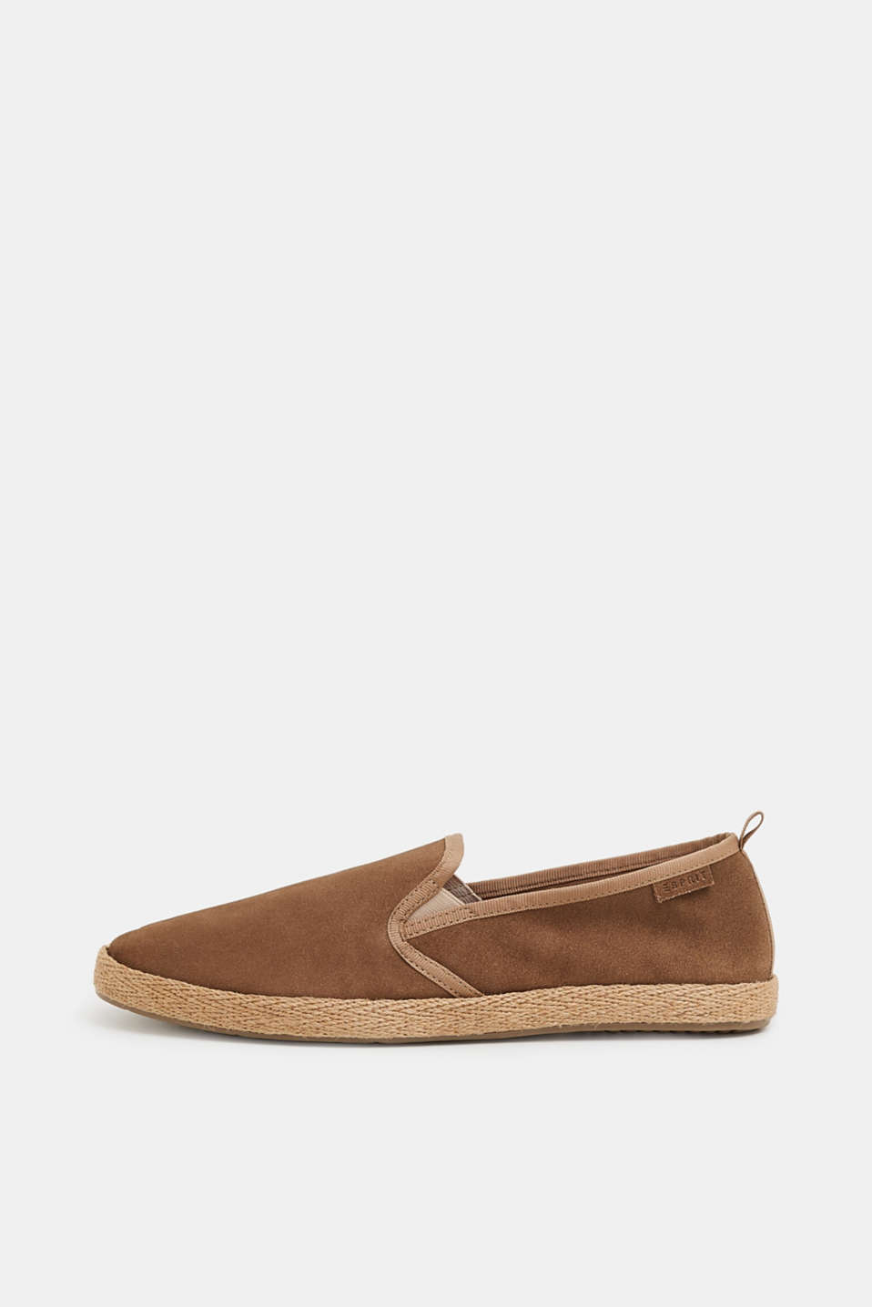 Esprit - Slippers with a bast sole, made of leather