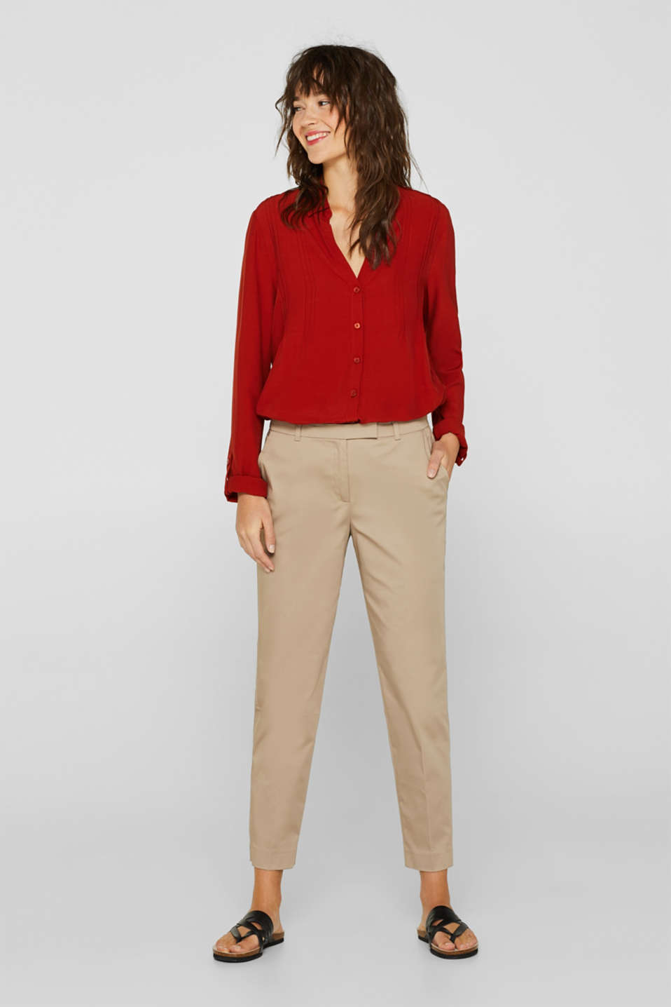 Esprit - COTTON SATIN Mix + Match Stretch-Hose