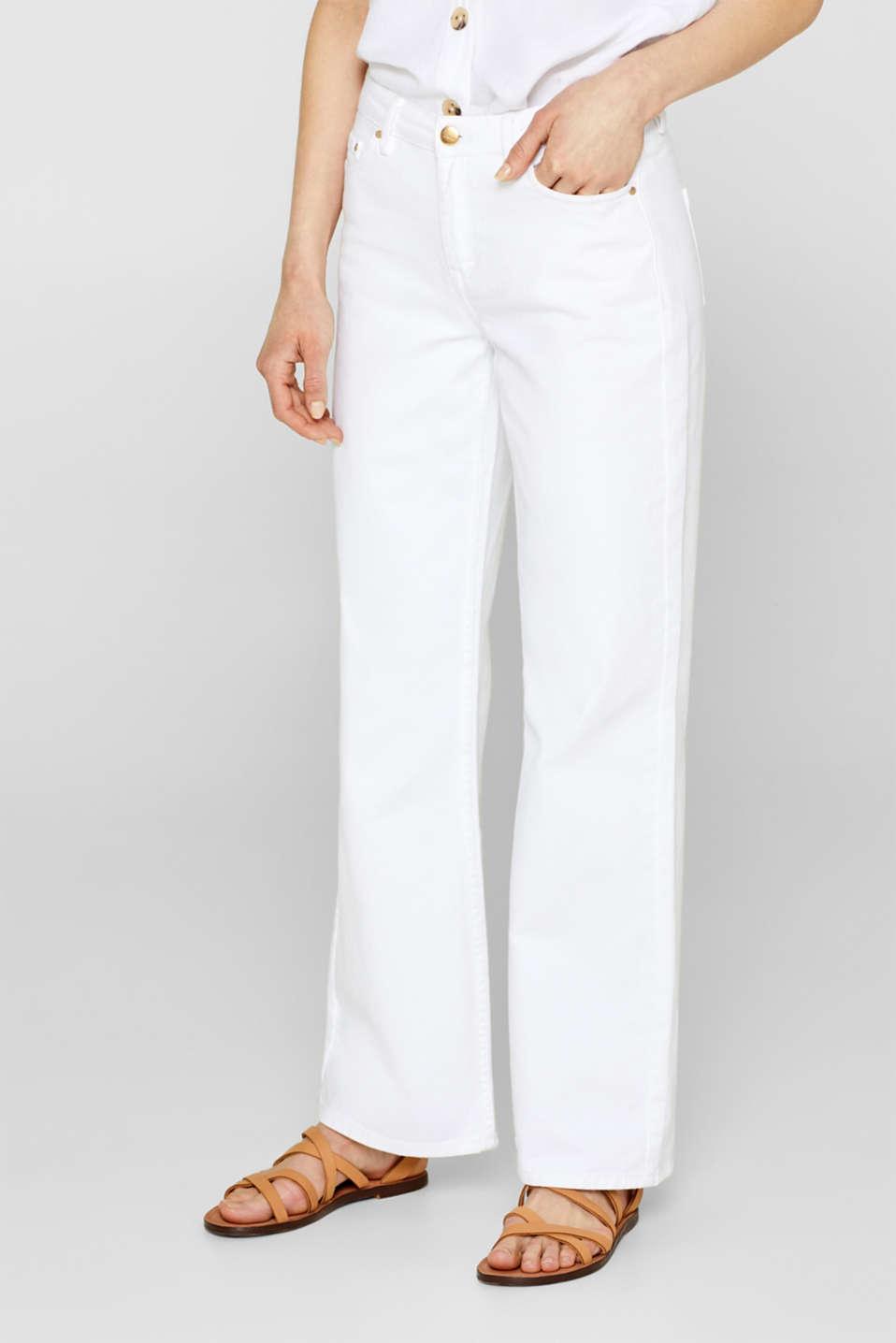 Pants denim, WHITE, detail image number 6