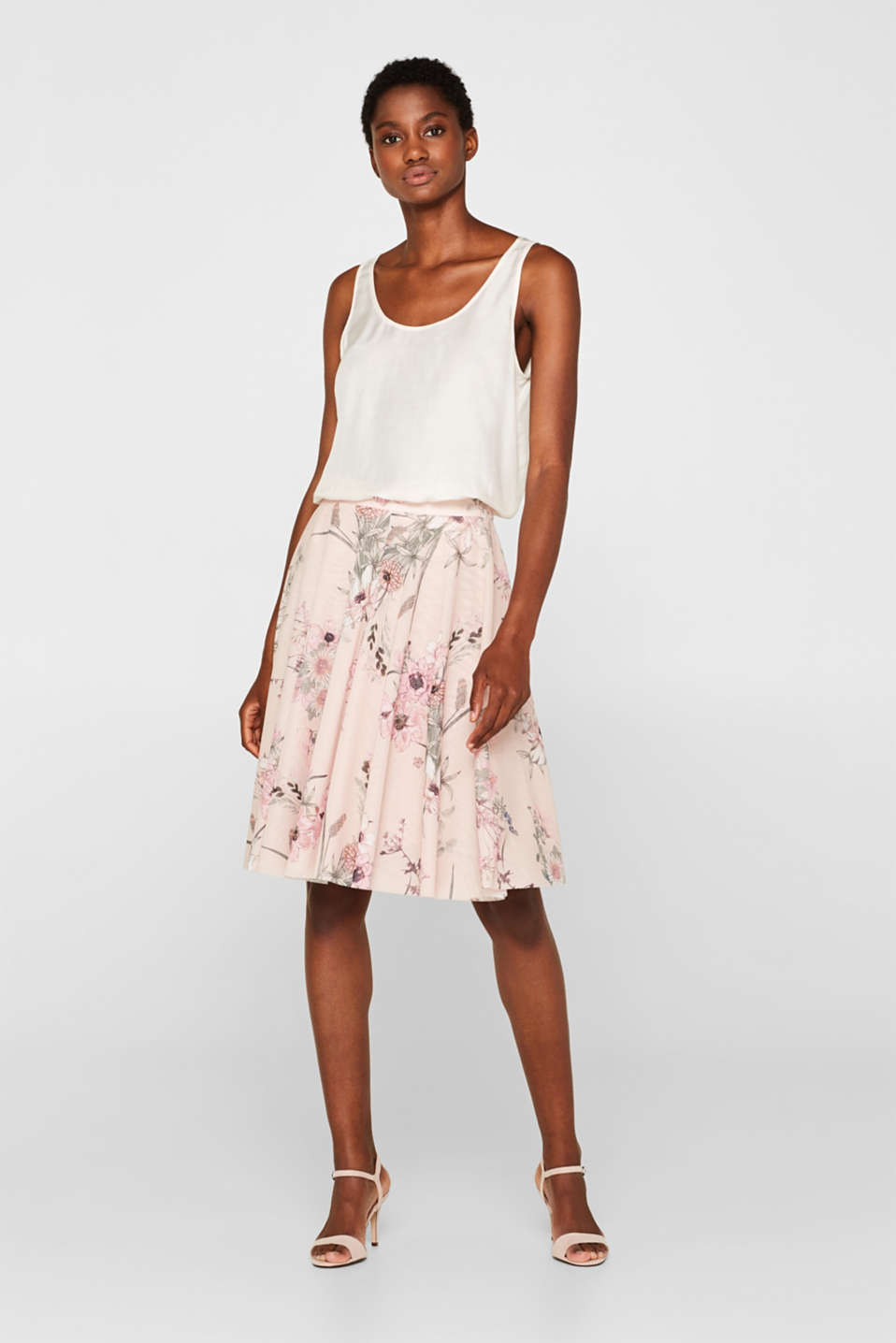 39d570c7fe Esprit - Bell-shaped tulle skirt with a floral print at our Online Shop