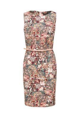 14bcc5029 Vestido de tubo elástico con estampado de flores y cinturón79